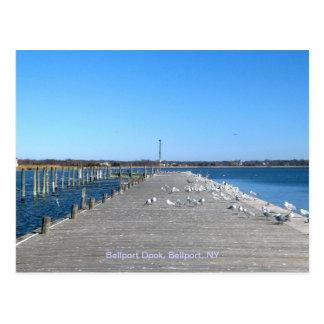 Carte Postale Dock de Bellport, village NY de Bellport