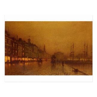 Carte Postale Dock de Greenock par John Atkinson Grimshaw