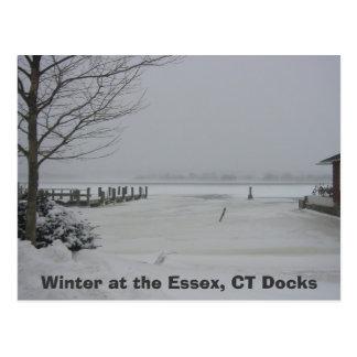 Carte Postale Dock d'Essex, hiver chez l'Essex, docks de CT