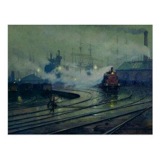 Carte Postale Docks de Cardiff, 1896