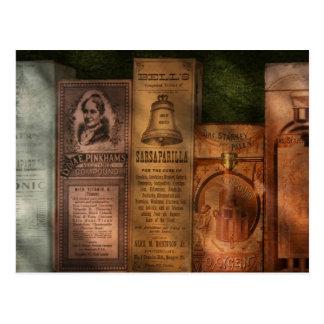 Carte Postale Docteur - extraits et salsepareille de composé