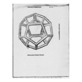 Carte Postale Dodecahedron, de 'De Divina Proportione'