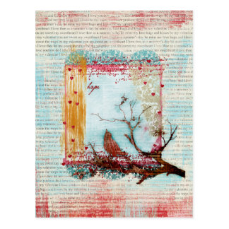 Carte postale d'oiseau d'espoir