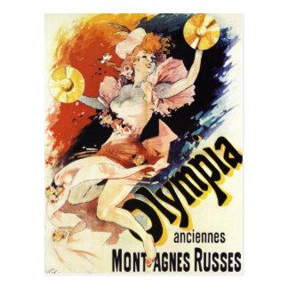 Carte postale d'Olympia de Jules Cheret