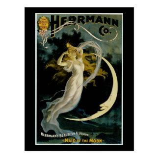 Carte Postale Domestique de ~ de Herrmann de la lune