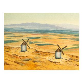 Carte Postale DON DON QUICHOTTE - animation Background (1979)