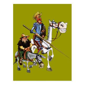 Carte Postale DON QUIJOTE, SANCHO, ROCINANTE y RUCIO - Cervantes