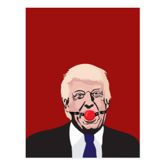 Carte Postale Donald J. Trump avec le bâillon rouge -