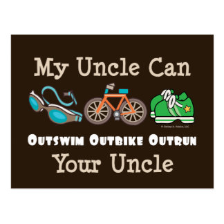 Carte postale d'oncle Outswim Outbike Outrun Triat