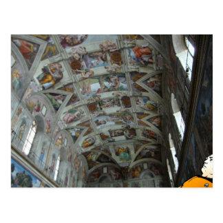 Carte Postale Données dans la chapelle de Sistine