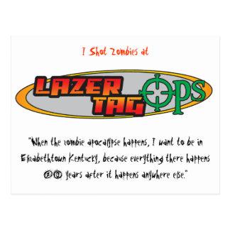 Carte postale d'Ops d'étiquette de Lazer