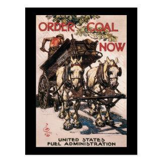 Carte Postale D'ordre de charbon la deuxième guerre mondiale