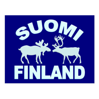 Carte postale d'orignaux et de renne de la