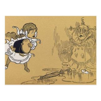 Carte Postale Dorothy fondant la sorcière mauvaise à l'ouest,