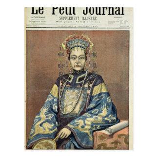 Carte Postale Douairière d'impératrice Tz'U-Hsi de la Chine