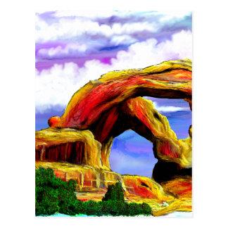 Carte Postale Double peinture de paysage de voûte