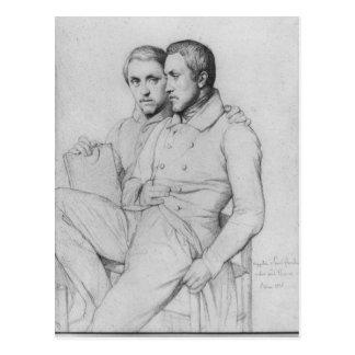Carte Postale Double portrait de Hippolyte et de Paul Flandrin