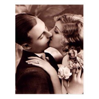 Carte postale douce de cru de couples