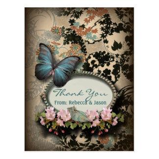 Carte Postale Douche nuptiale de Paris de papillon botanique de