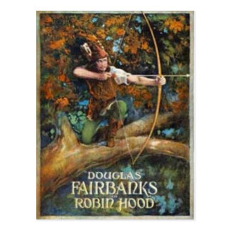 Carte Postale Douglas Fairbanks comme Robin Hood