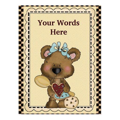 Carte postale d'ours de biscuit