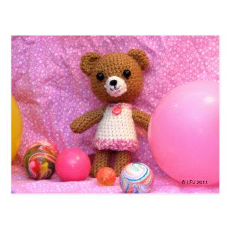Carte postale d'ours de nounours d'Amigurumi