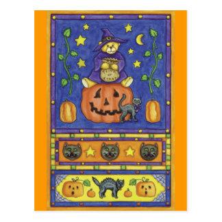 Carte postale d'ours de nounours de Halloween
