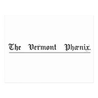 Carte postale d'ours du Vermont Phoenix