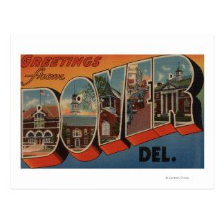 Carte Postale Douvres, lettre ScenesDover, De de DelawareLarge