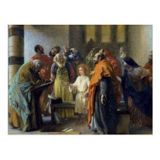 Carte Postale Douze-année vieux Jésus dans le temple, 1851