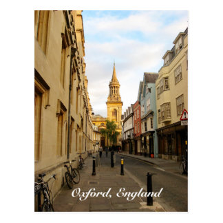 Carte postale d'Oxford, Angleterre