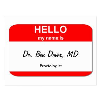 Carte Postale Dr. Ben Douvres, DM