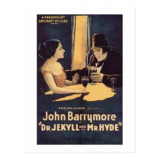 Carte Postale Dr. Jekyll et film d'horreur de M. Hyde Silent