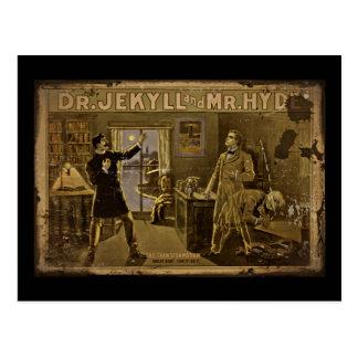 Carte Postale Dr. Jekyll et poster vintage de M. Hyde
