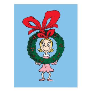 Carte Postale Dr. Seuss | Cindy-Lou qui - guirlande
