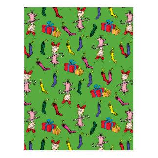 Carte Postale Dr. Seuss | le Grinch | Cindy Lou qui modèlent