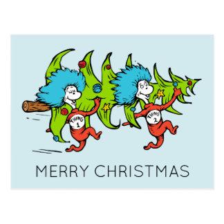 Carte Postale Dr. Seuss | Noël de la chose 2 de la chose 1 de