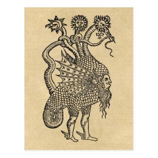 Carte Postale Dragon alchimique