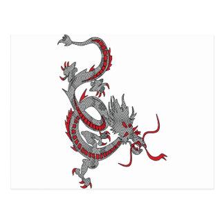 Carte Postale Dragon chinois de nouvelle année