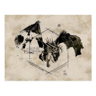 Carte Postale Dragon de Horntail de Hongrois