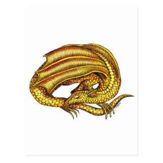 Carte Postale Dragon d'or
