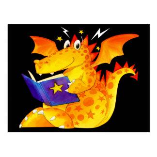 Carte Postale Dragon drôle de Halloween de l'enfant