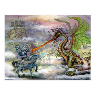 Carte Postale Dragon du chevalier n