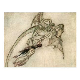 Carte Postale Dragon et la princesse