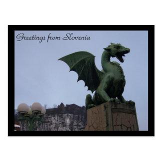 Carte Postale dragon Ljubljana
