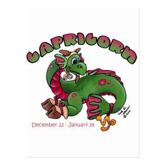 Carte Postale Dragon mignon de bébé de zodiaque de Capricorne