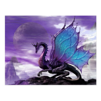 Carte Postale Dragon pourpre