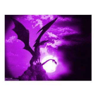 Carte Postale Dragon pourpre 2