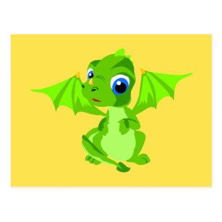 Carte Postale Dragon timide de bébé