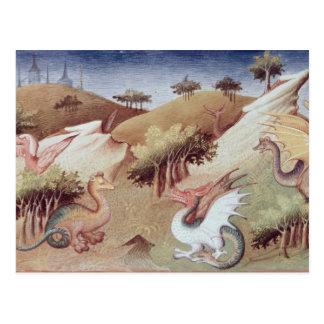 Carte Postale Dragons de Mme Fr 2810 f.55v et d'autres bêtes